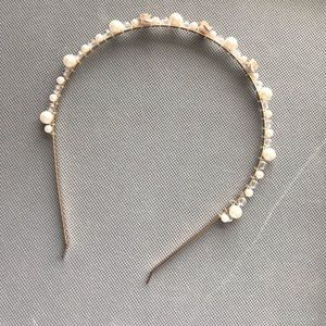 NEW H&M Pearl and Flower Headband